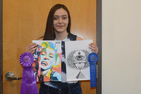 "Congratulations! Mireya Ocampo for taking ""Best of Show"" and ""First  Place"" in the Williams Community Art Show!"